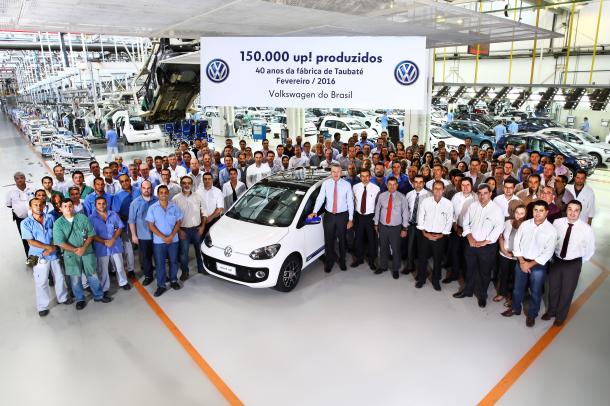 Volkswagen up! chega a 150 mil unidades produzidas