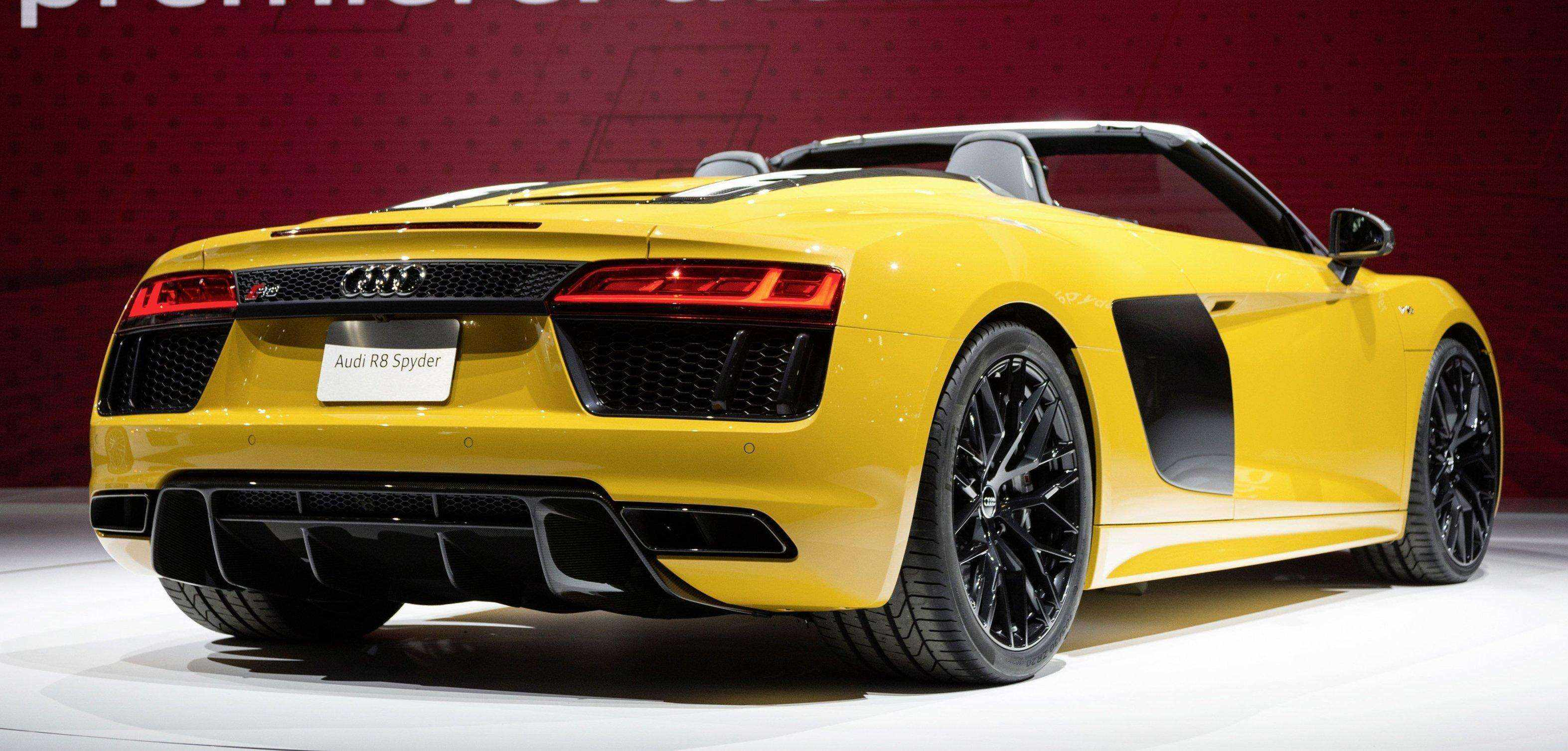 The new Audi R8 Spyder