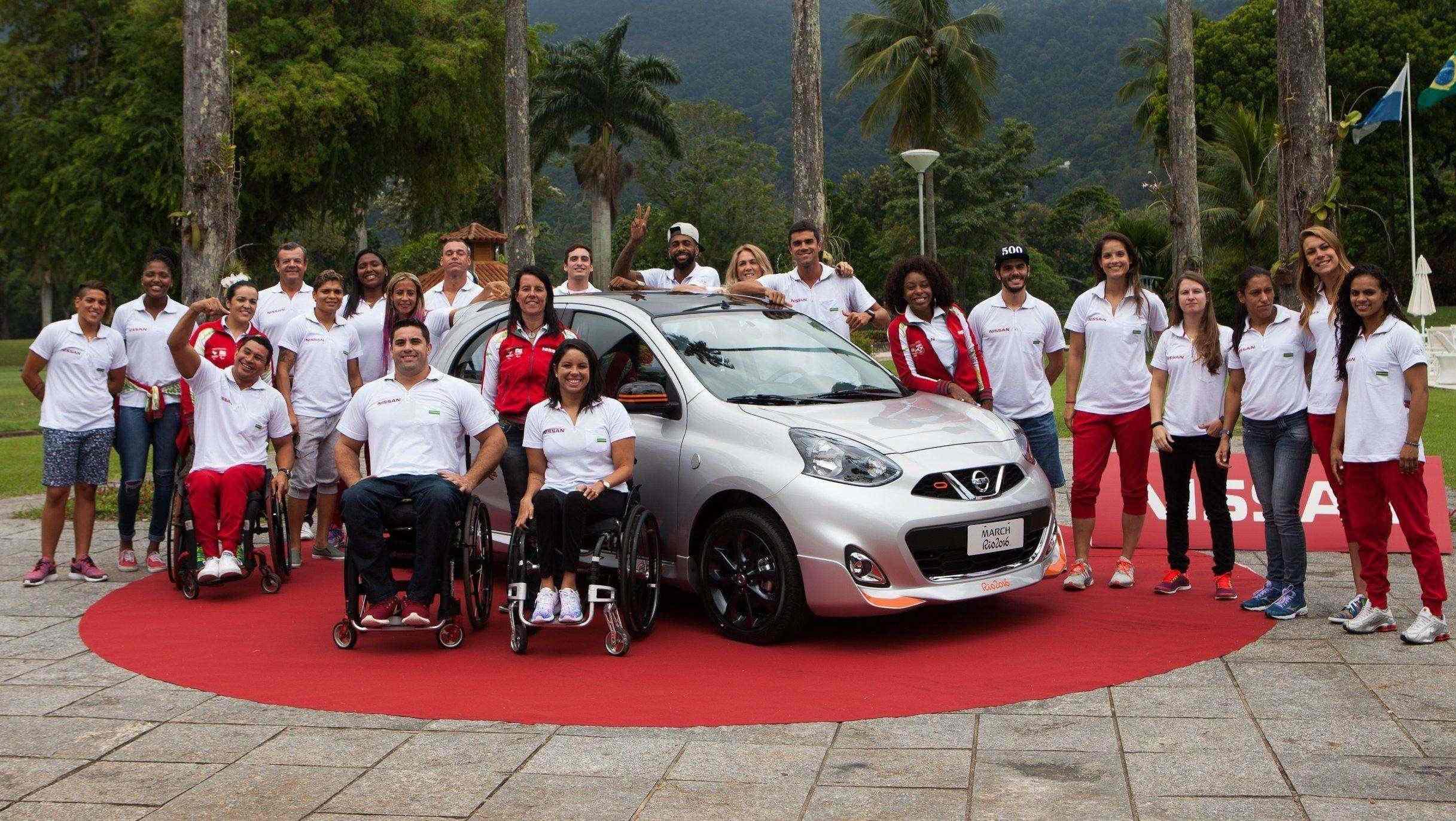 Nissan March Rio 2016 é apresentado ao time de atletas das Olimpíadas