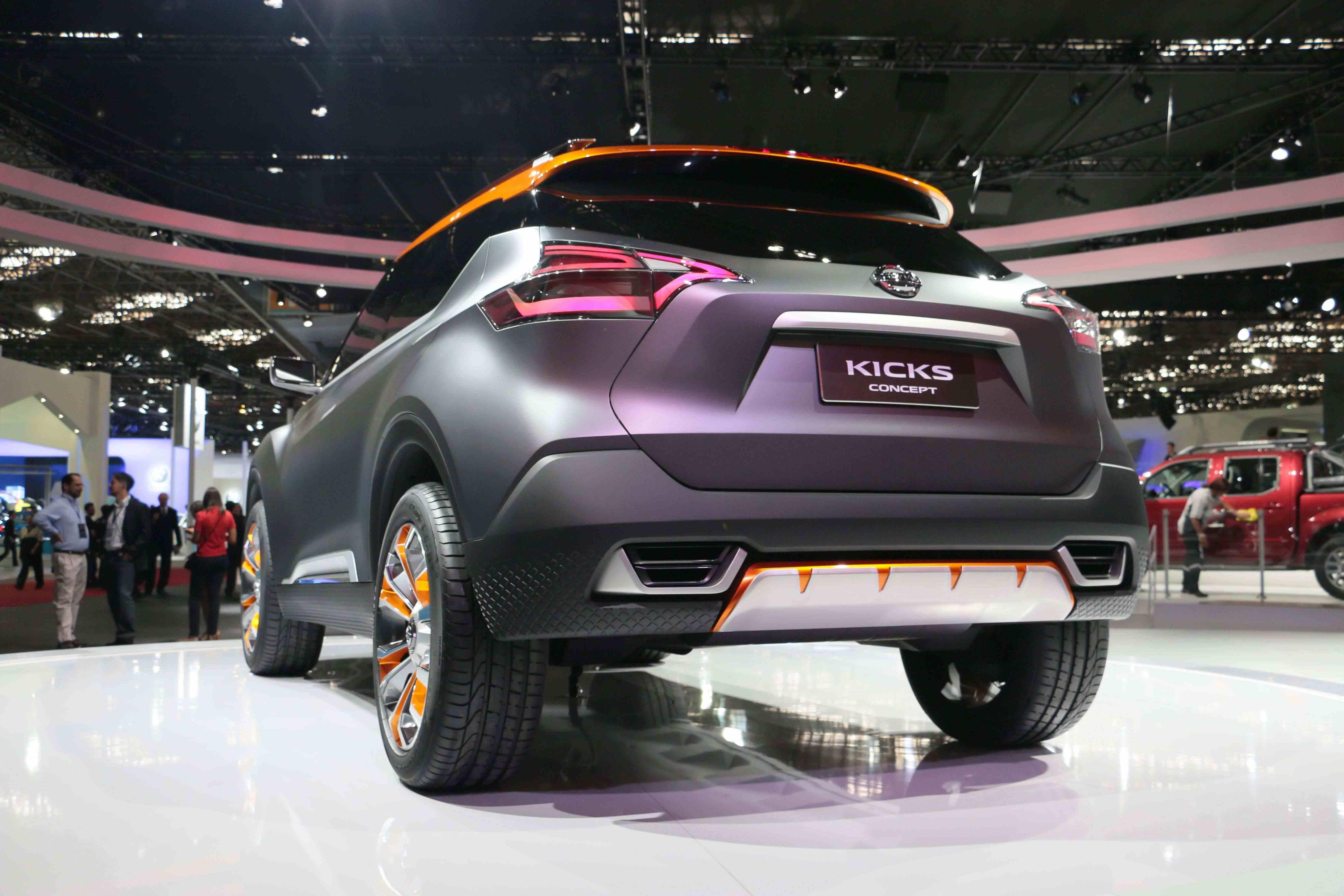 Nissan Kicks Concept pronto para fascinar o público no Salão Internacional do Automóvel de São Paulo.