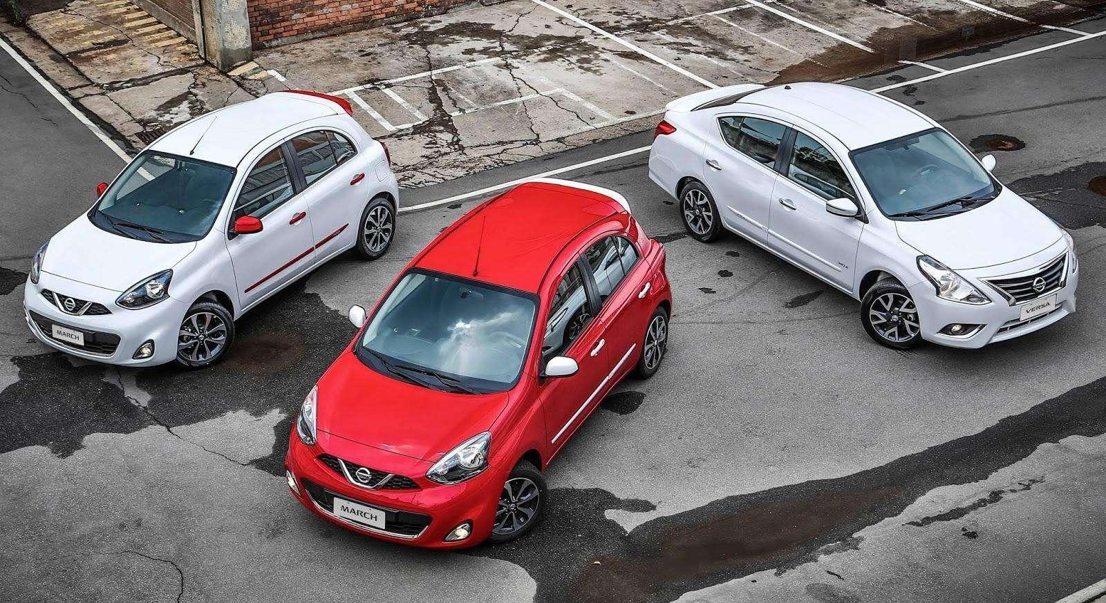 Nissan Versa e March contarão com câmbio automático CVT em junho