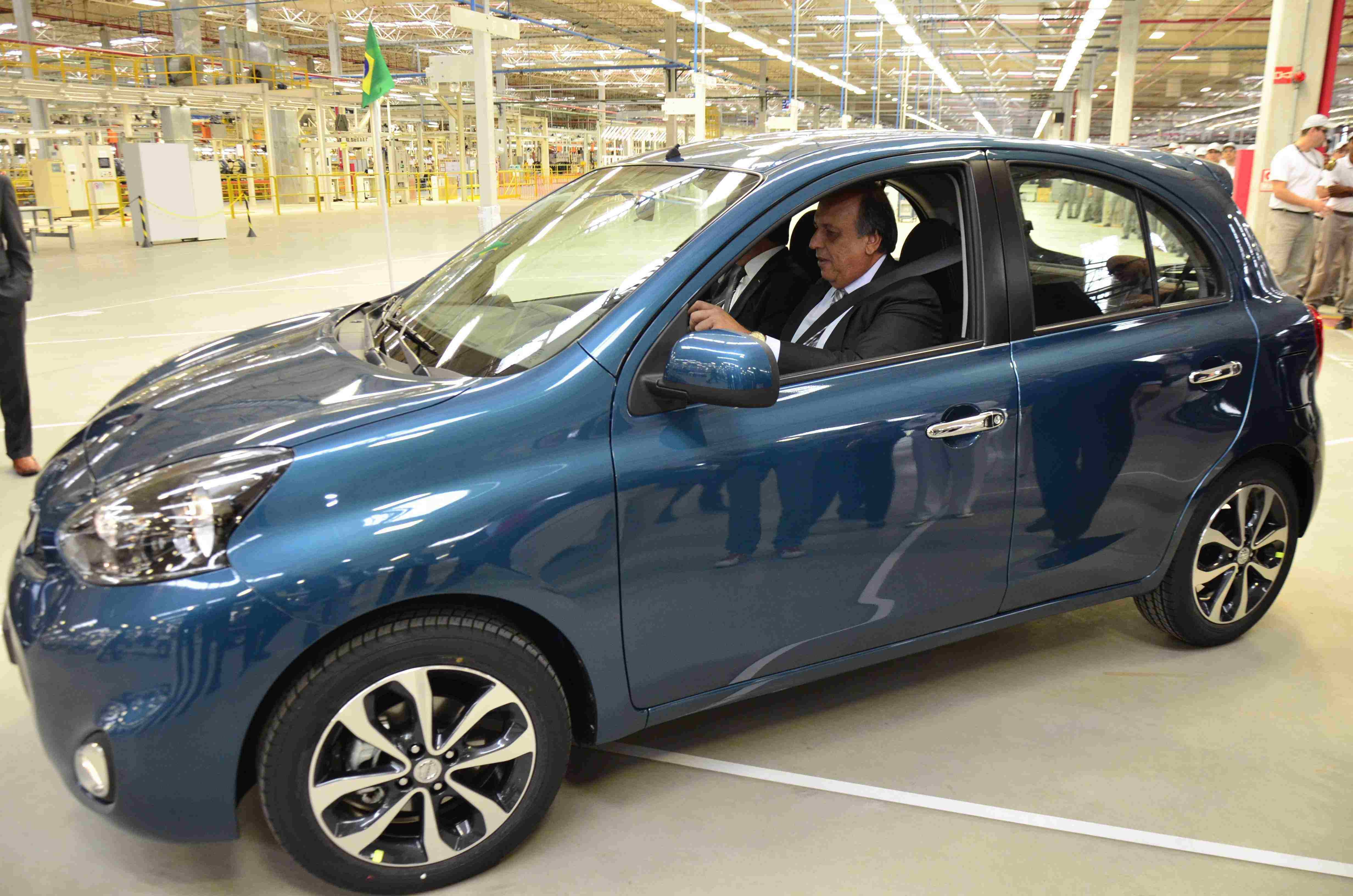 RIO DE JANEIRO, Brazil (April 15, 2014) - Today Nissan officially opened its R .6 billion (USD .5 billion) * industrial complex in Resende, Rio de Janeiro, Brazil, marking one of the largest automotive investments by any manufacturer in the country. This investment is part of an effort to achieve five percent market share and to become the number one Japanese automotive brand in Brazil.