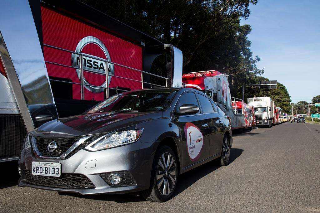 New Nissan Sentra takes part in Torch Relay across the country ahead of the Rio 2016 Games