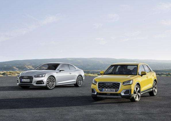 The new Audi Q2* celebrated its public debut this spring, followed in early June by the Audi A5 and the S5 Coupé*. Orders are now being accepted for all three models. The trio will hit the streets in fall.