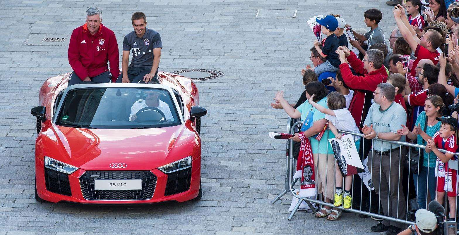 Audi efetiva entrega de seus carros a jogadores do Bayern de Munique