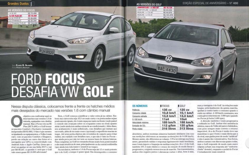 Volkswagen Golf desafia Ford Focus: confira o melhor hatch médio do Brasil