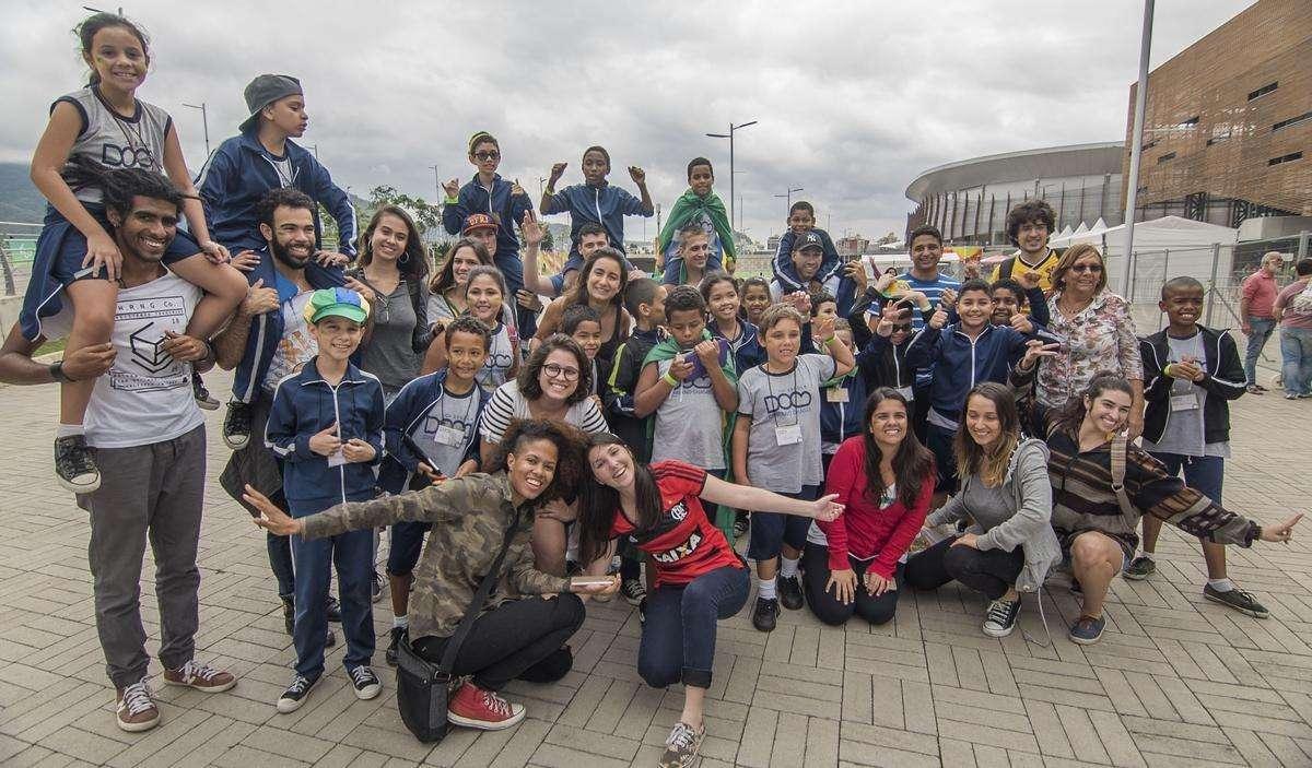 Os jovens divertiram-se no Parque Olímpico da Barra / Crédito: Divulgação / Nissan
