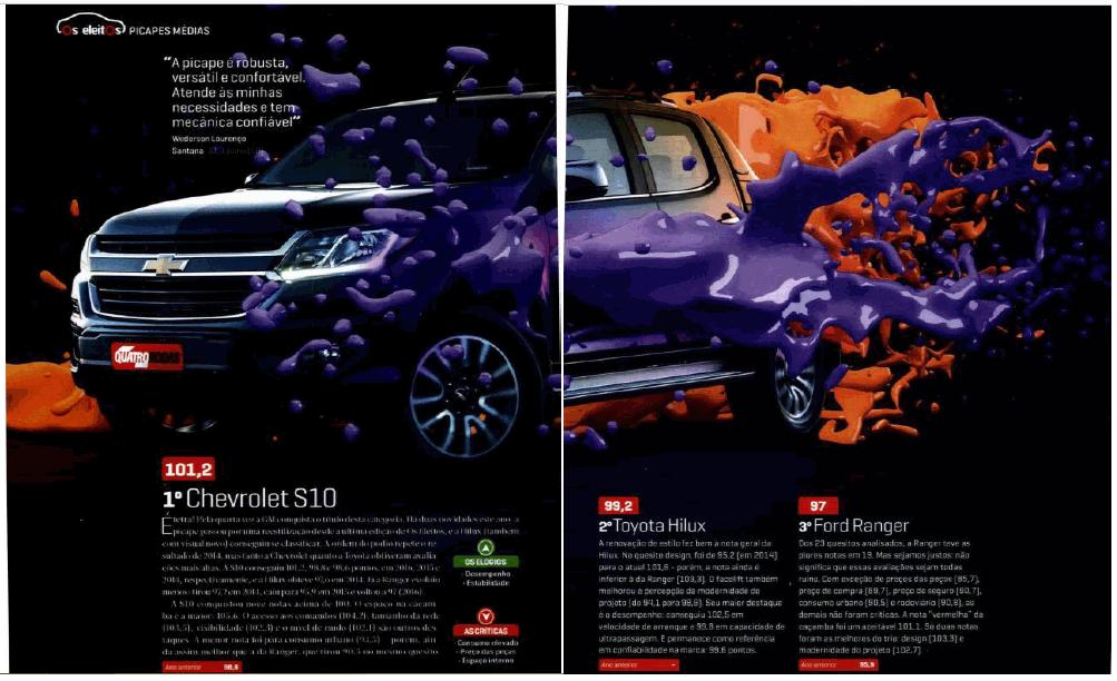 Tetracampeã na pesquisa Os Eleitos, Chevrolet S10 supera expectativas de consumidores