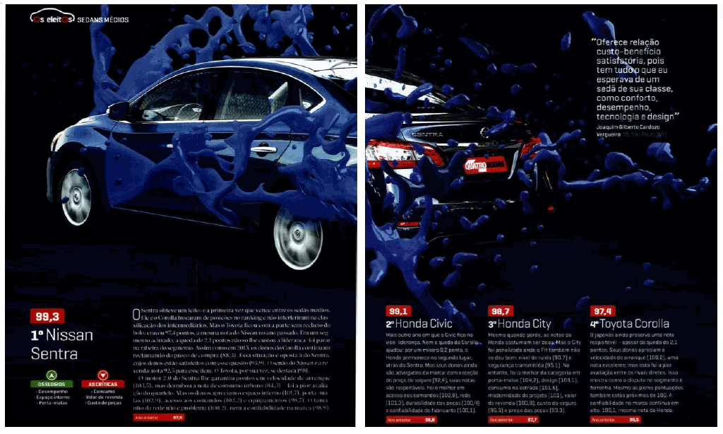 Nissan Sentra supera todos os sedans médios em satisfação dos consumidores