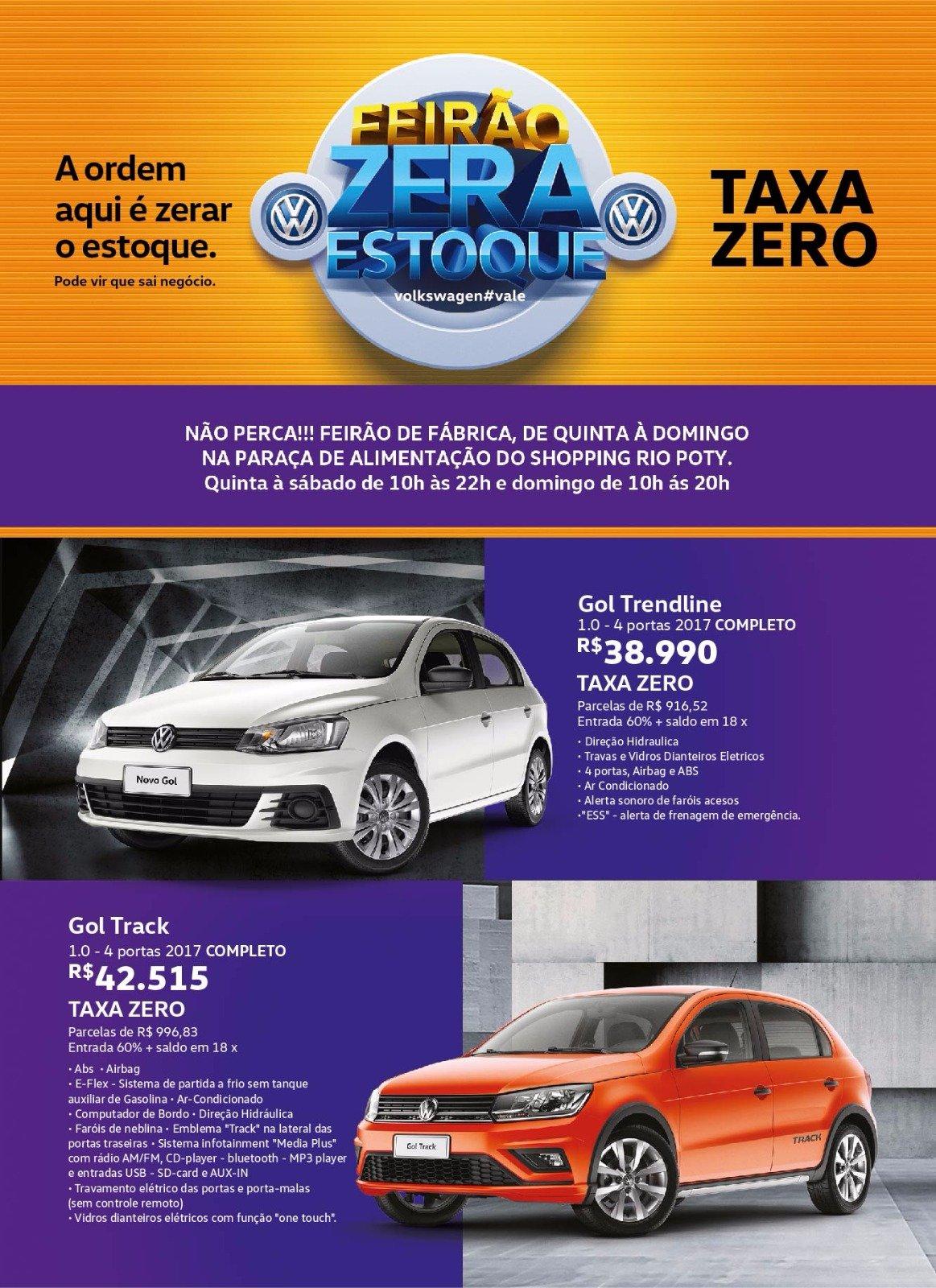 Feirão de Fábrica Volkswagen: só até domingo, operação Zera Estoque no Shopping Rio Poty