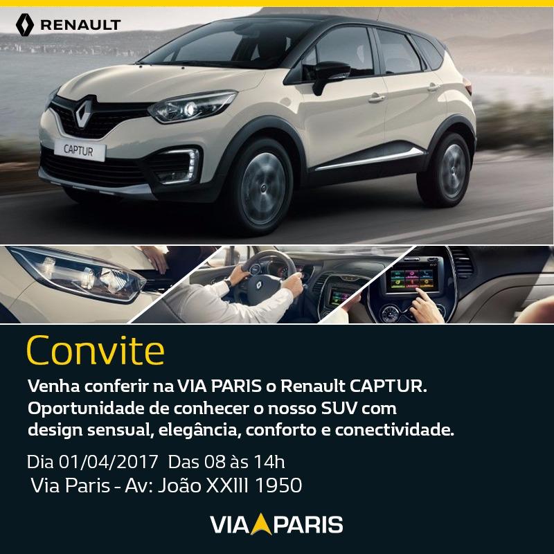 Renault Captur terá apresentação especial na Via Paris neste sábado (01)