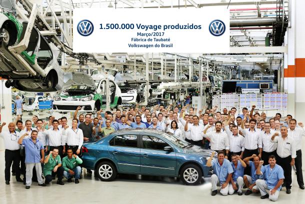 Volkswagen Voyage conquista marca de 1.500.000 unidades produzidas no Brasil