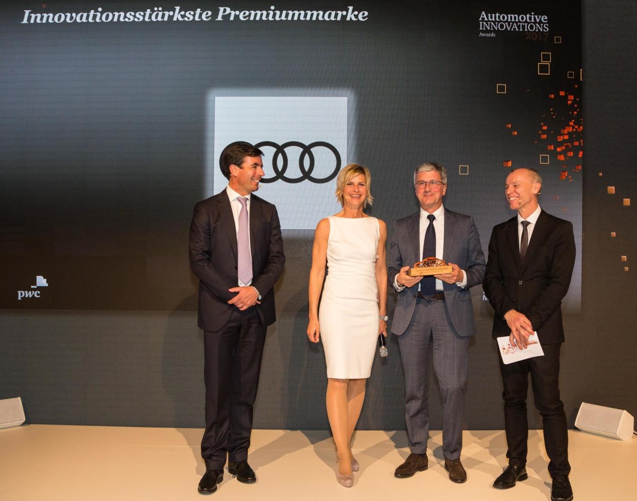 Audi é reconhecida como marca mais inovadora pelo Automotive Innovations Award 2017