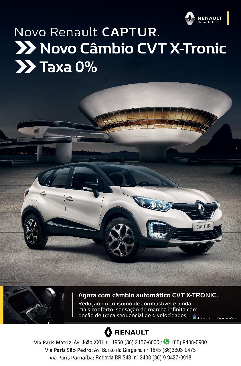 Começa o Fest Renault Captur: até sábado, confira na Via Paris condições exclusivas para ter o novo SUV