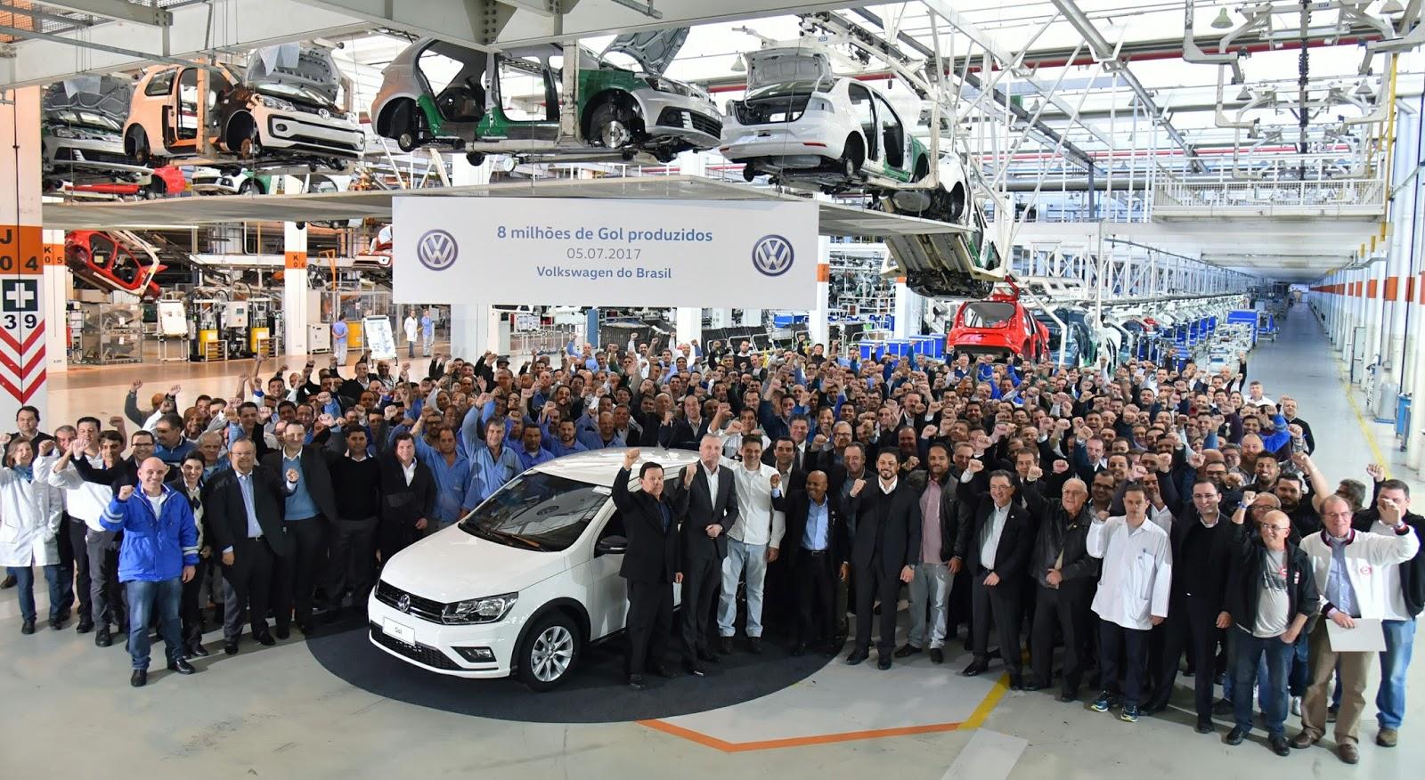 Ícone do Brasil, Volkswagen Gol alcança recorde de 8 milhões de unidades produzidas