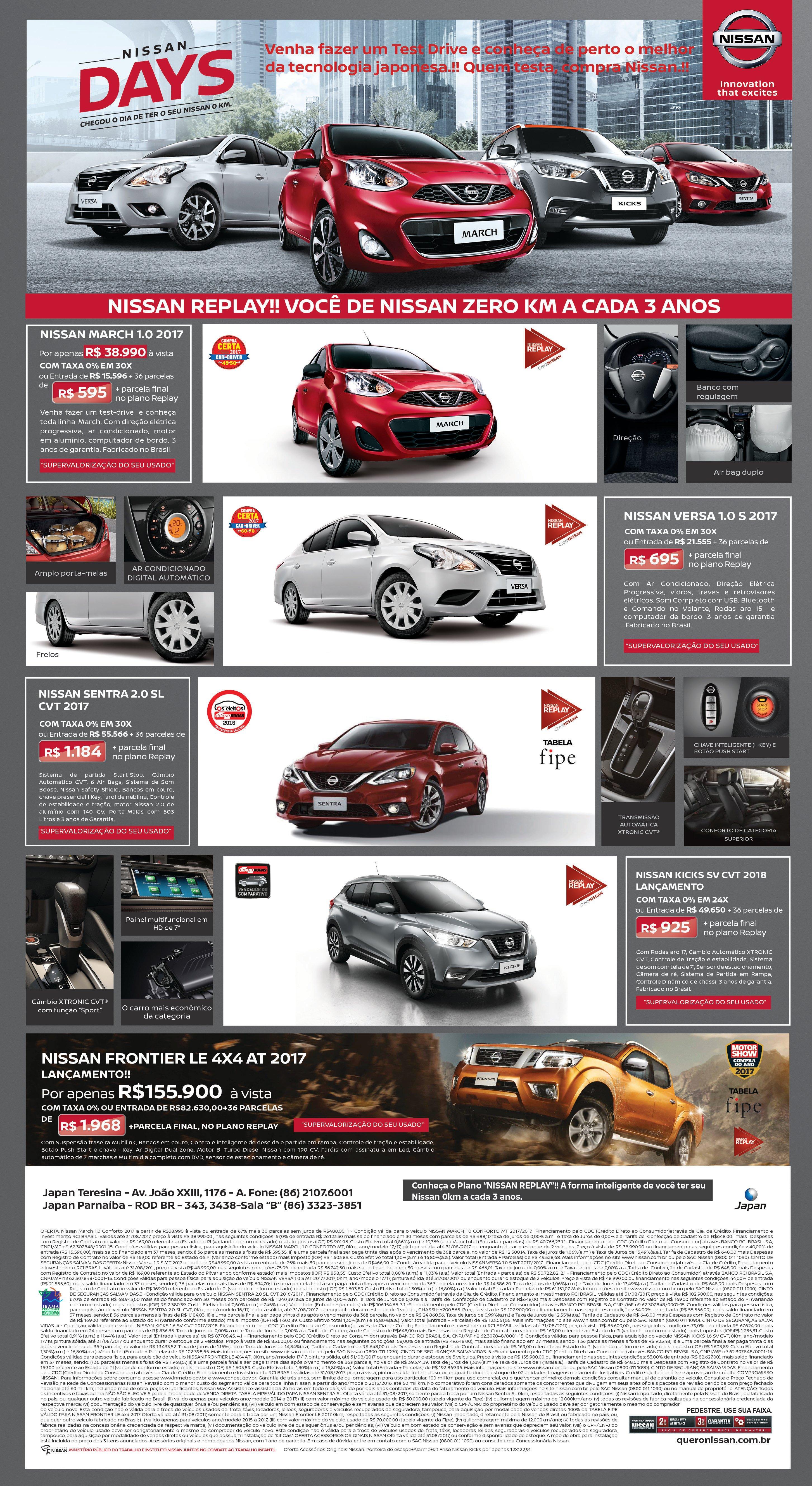 Conheça o plano Nissan Replay: a cada três anos, você de carro novo! Veja as ofertas de agosto