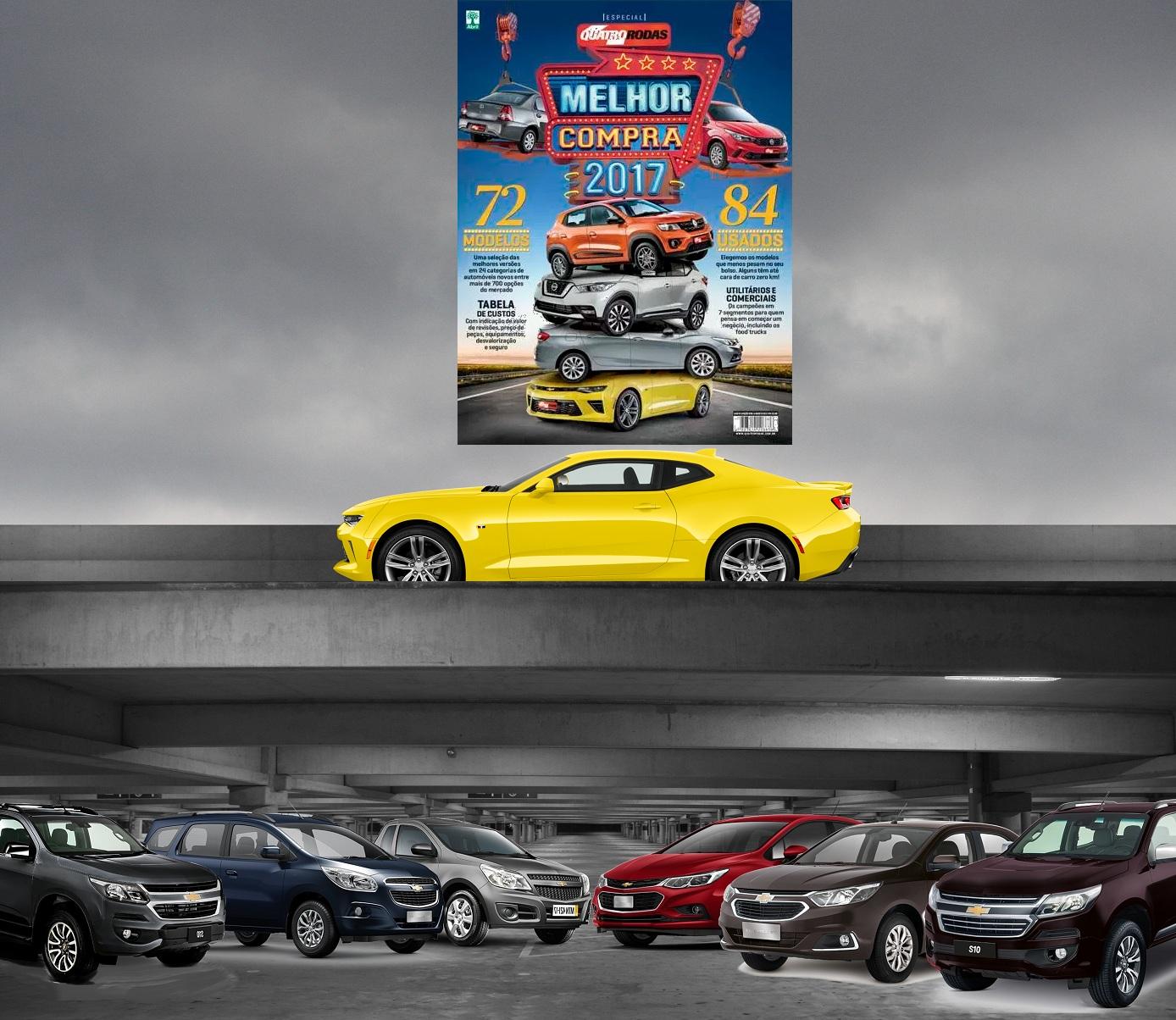 Chevrolet Cobalt, Spin, Montana, Cruze, S10 e Camaro são eleitos Melhores Compras de suas categorias