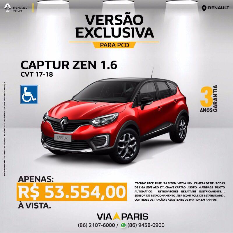 Cheio de elegância e segurança, Renault Captur 2018 possui preço especial para PCD e frotistas
