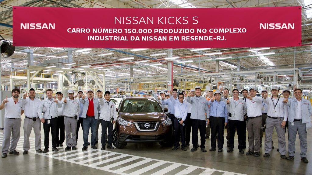 Nissan comemora fabricação de 150 mil unidades de Kicks, March e Versa no Brasil