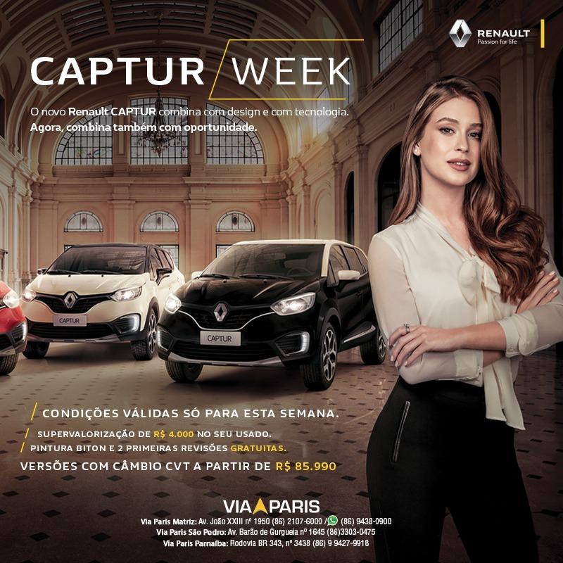 Renault Captur Week: aproveite na Via Paris condições exclusivas para o SUV que chegou seduzindo o Brasil
