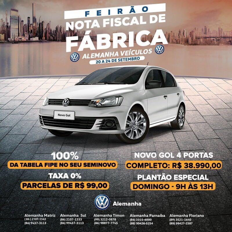 Feirão de Fábrica Volkswagen: a chance de levar seu Gol com parcelas de apenas R$ 99!