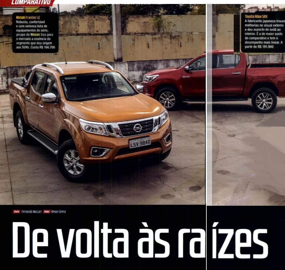 Nissan Frontier Biturbo 4×4 é confrontada com Toyota Hilux por revista especializada: confira a melhor opção