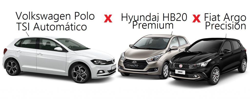 Novo Volkswagen Polo é confrontado com Fiat Argo e Hyundai HB20: saiba qual é o melhor hatch Premium
