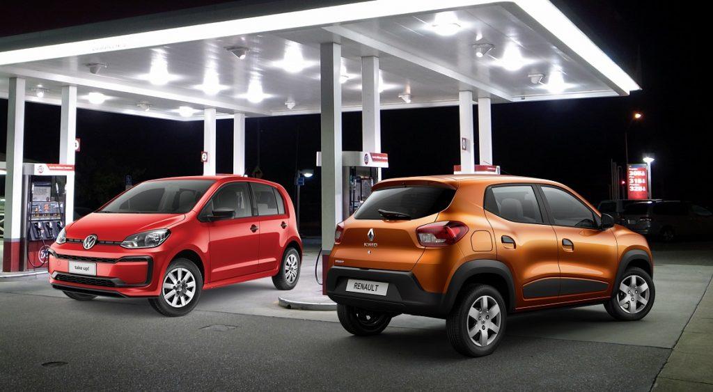 Kwid e up!: Os carros mais econômicos do Brasil disputam qual vai menos ao posto de gasolina