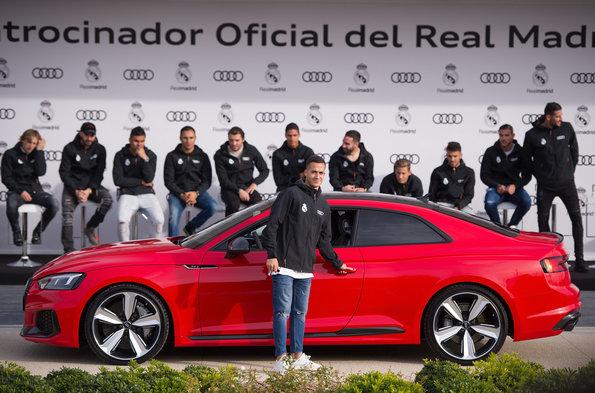 Audi entrega automóveis novos para jogadores do time Real Madrid