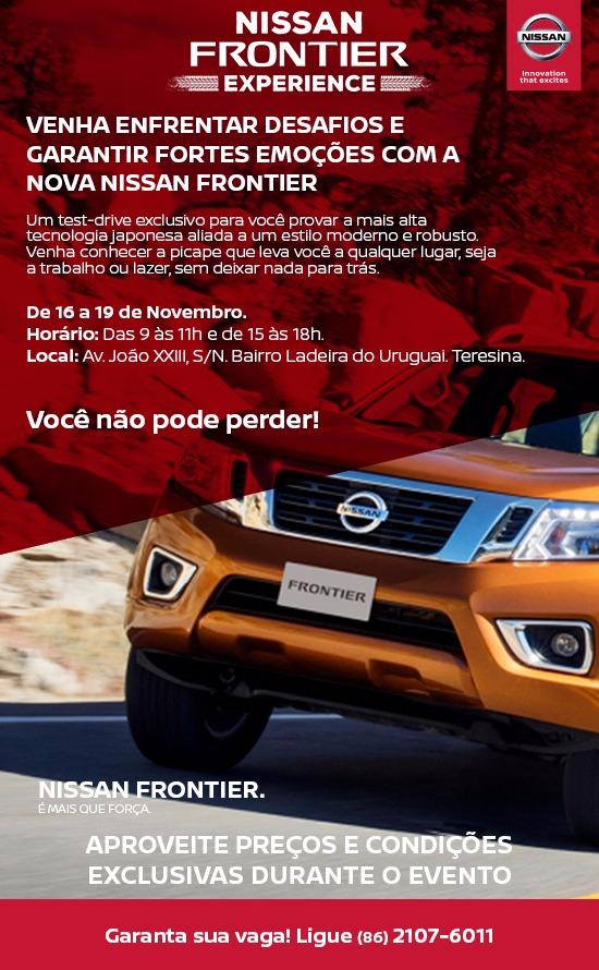 Venha testar a nova Nissan Frontier no circuito off-road e comprovar toda sua força!