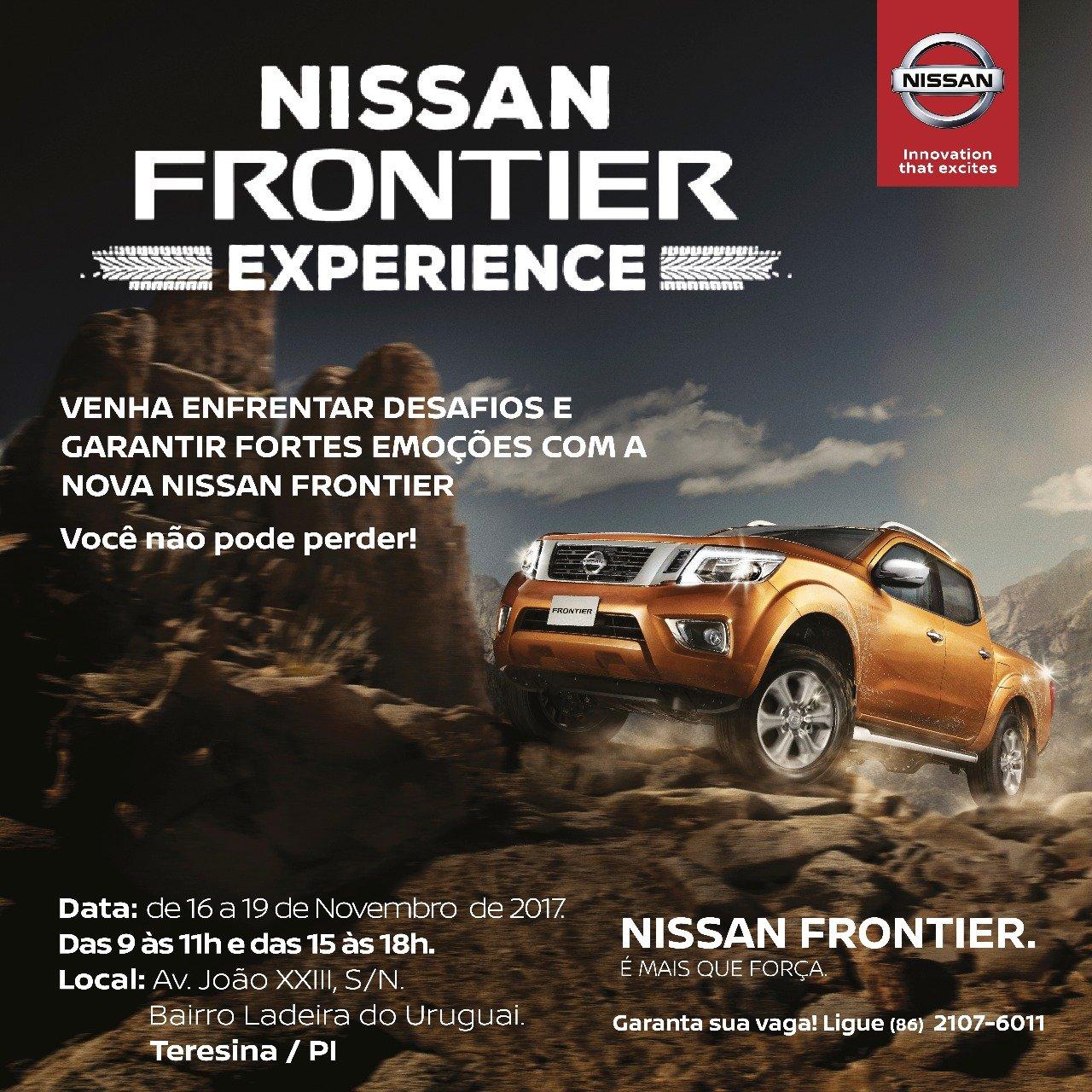 Começa hoje! Venha testar a Nova Nissan Frontier em circuito off-road e comprovar sua robustez!