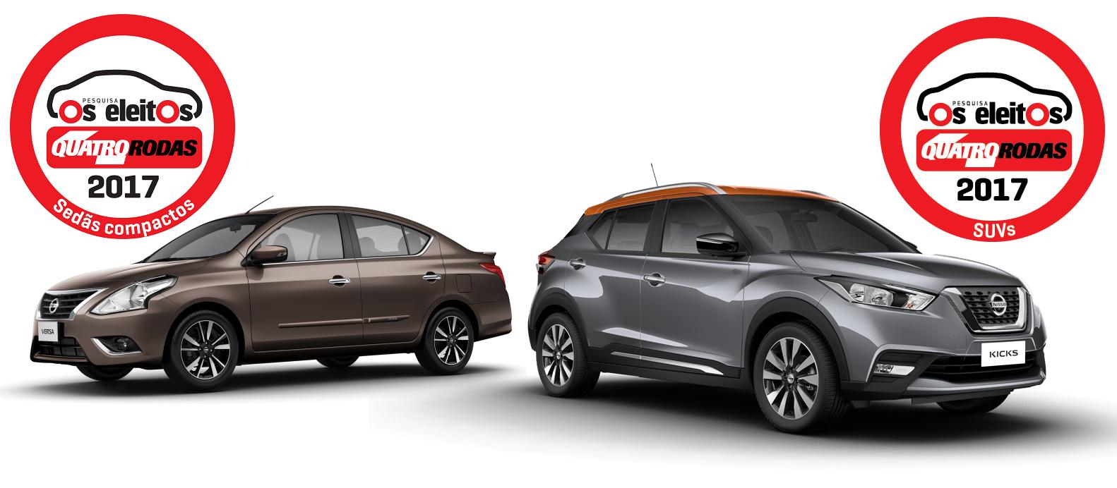 Nissan Kicks e Versa são eleitos os carros com maior índice de satisfação de suas categorias