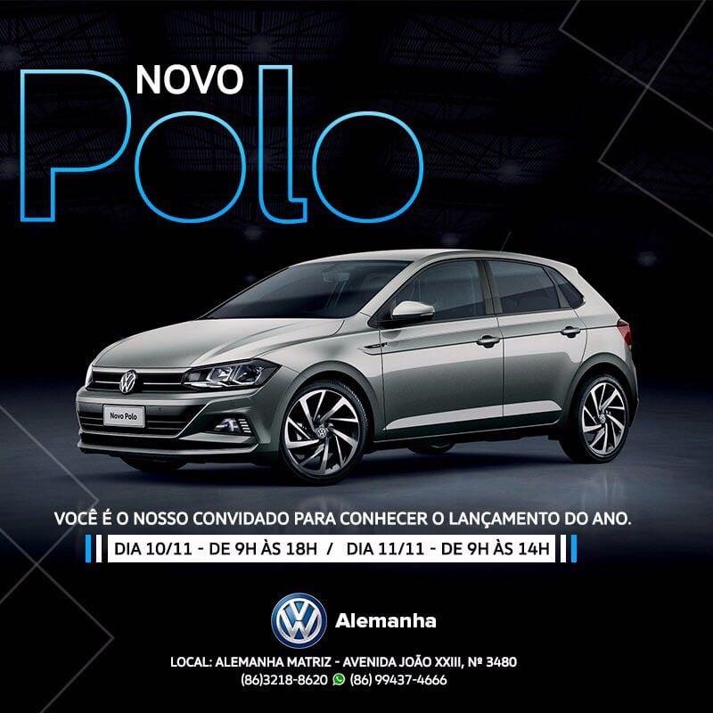 Convite para você: Alemanha Veículos fará lançamento do VW Polo 2018 nos dias 10 e 11