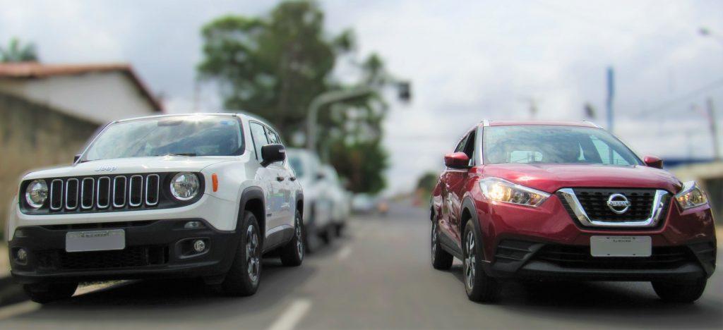 Disputa de SUVs: Nissan Kicks encara Jeep Renegade – saiba qual é a melhor opção do segmento