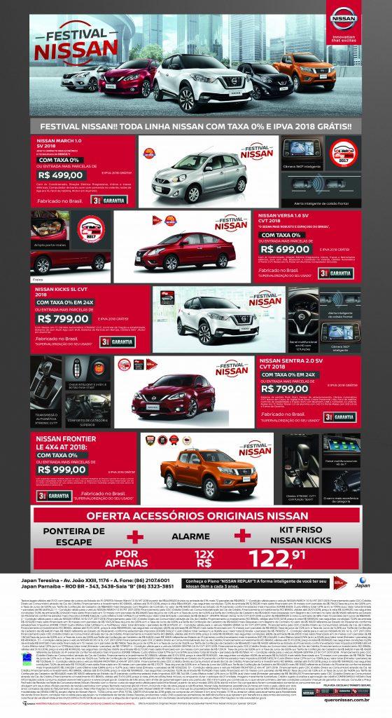 Janeiro é o mês de garantir seu Nissan zero na Japan Veículos! Confira todas as ofertas