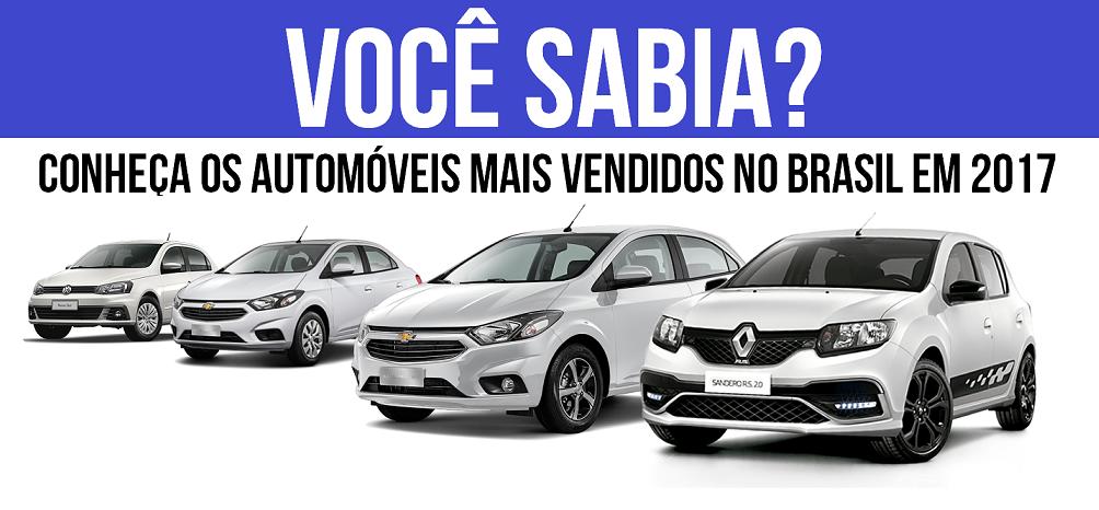 Você sabia? Conheça os carros que lideraram o mercado automotivo brasileiro em 2017