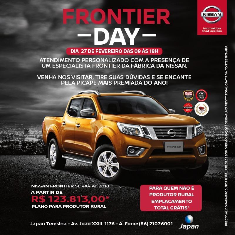 É nesta terça! Nissan Frontier Day terá atendimento especializado e ofertas imperdíveis!