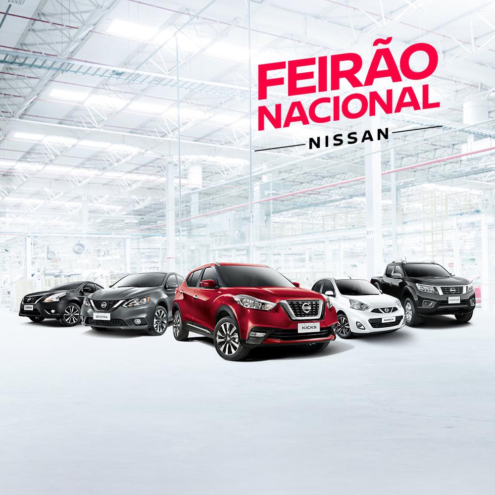 Prorrogado! Feirão Nacional Nissan, só neste fim de semana, reserva condições especiais para sair de carro zero!