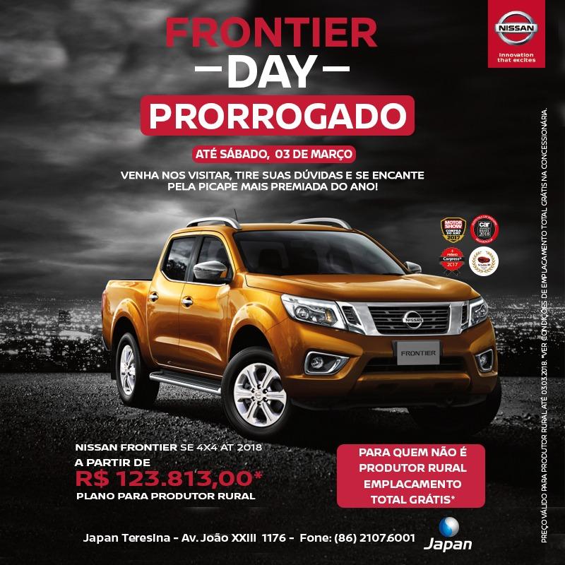 Prorrogado! Até sábado, aproveite ofertas do Nissan Frontier Day e se encante pela Picape do Ano!