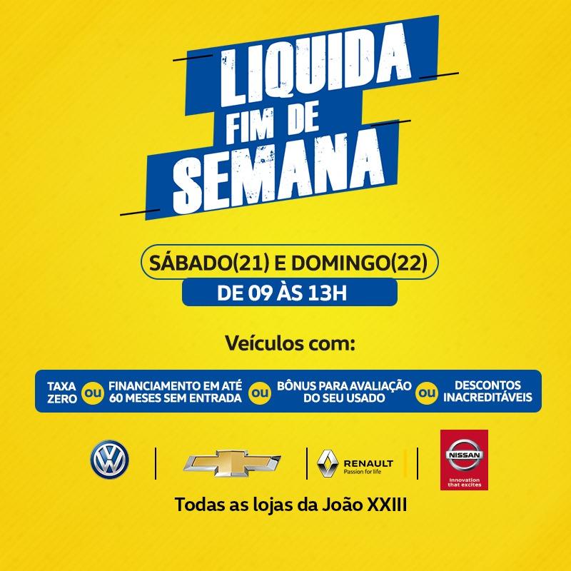 Liquida Fim de Semana: neste sábado e domingo, condições incríveis para sair de carro zero!