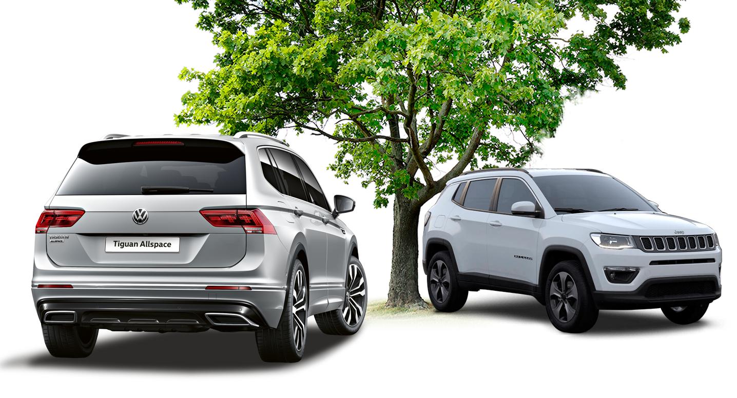 Volkswagen Tiguan AllSpace ou Jeep Compass: qual SUV entrega mais vantagens? Confira