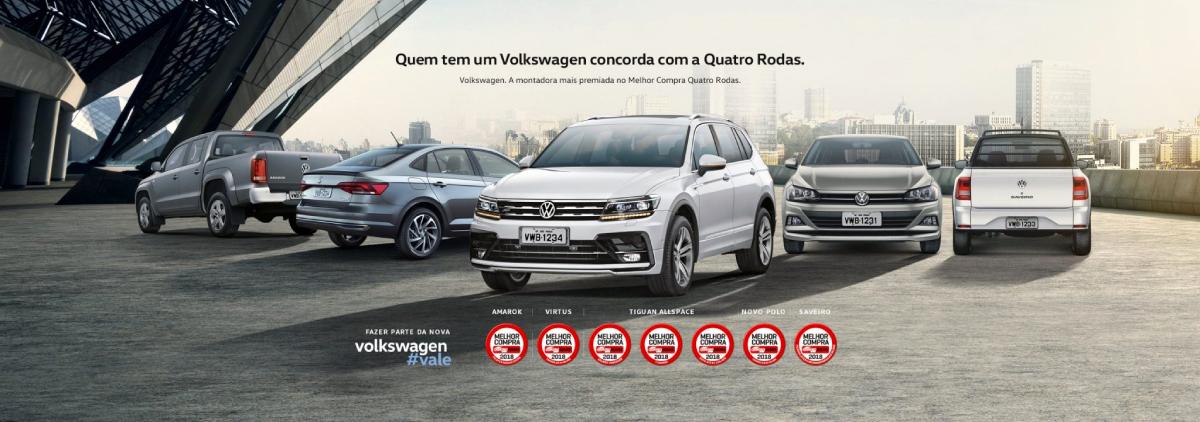 Volkswagen é a marca mais vitoriosa no prêmio Melhor Compra 2018, com 8 premiações