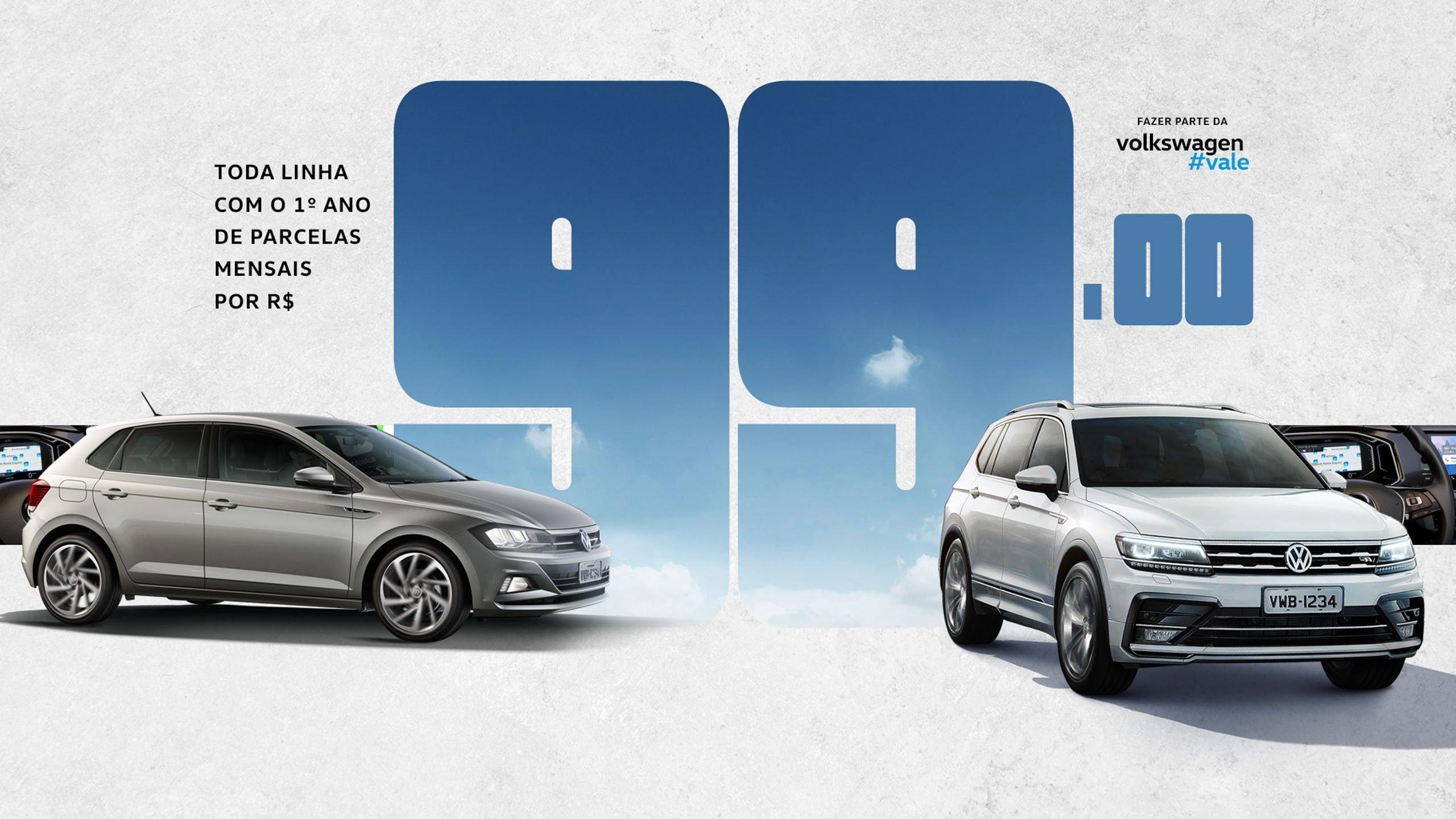Aproveite o Feirão Volkswagen na Alemanha Veículos de 23 a 26/08: toda a linha com parcelas de R$ 99!