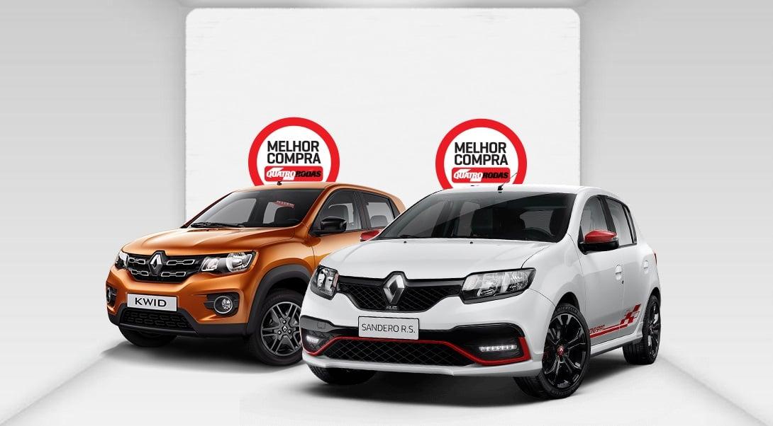 Pela segunda vez, Renault Kwid e Sandero R.S. 2.0 são vencedores do Prêmio Melhor Compra