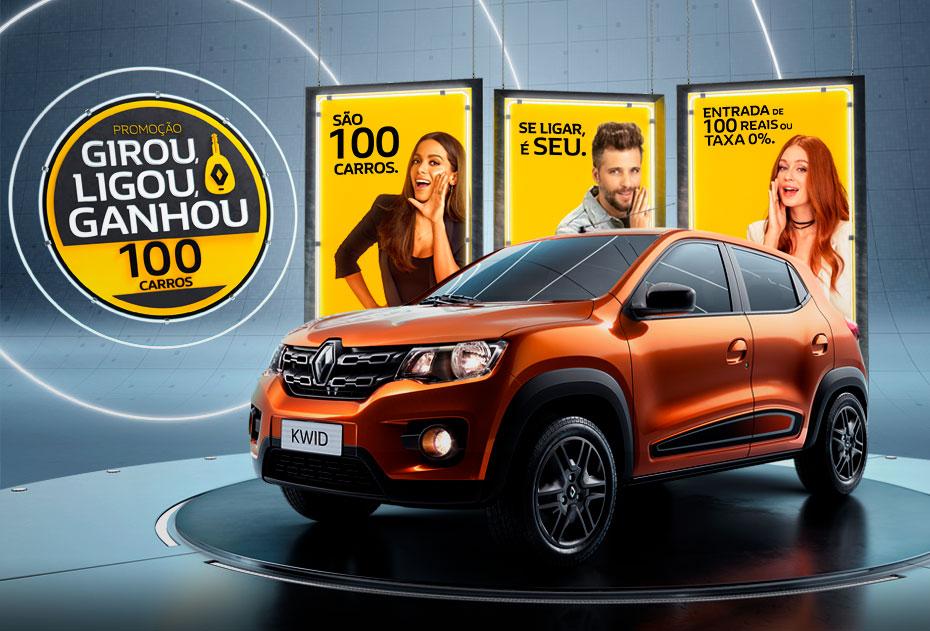 Girou, Ligou, Ganhou: concorra a 100 unidades do Renault Kwid, eleito Melhor Compra da categoria