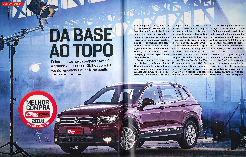 Volkswagen recebe oito premiações na pesquisa Melhor Compra; novo Tiguan é o vencedor geral