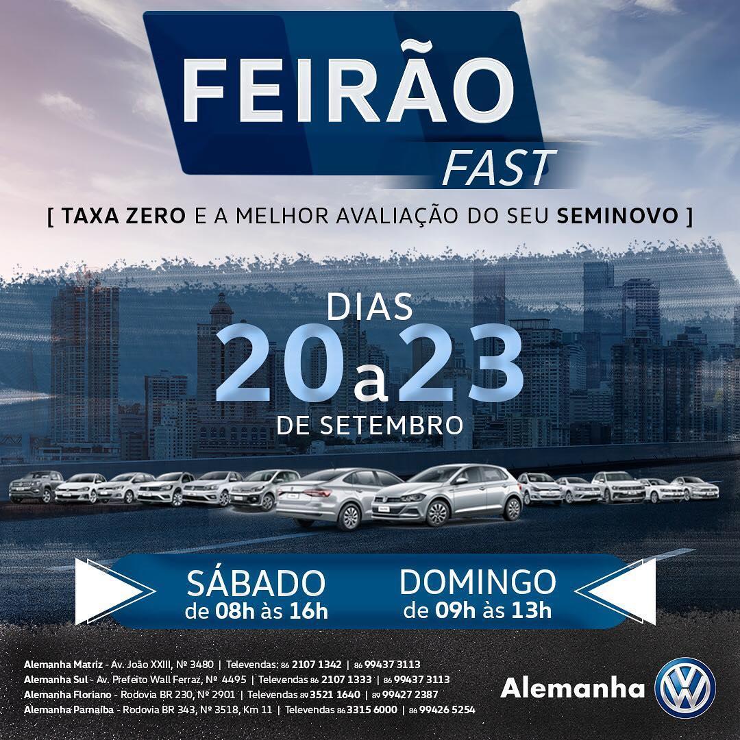 Feirão Fast Alemanha Veículos: só até domingo, garanta últimas unidades 2018 com bônus de até R$ 16.000,00!