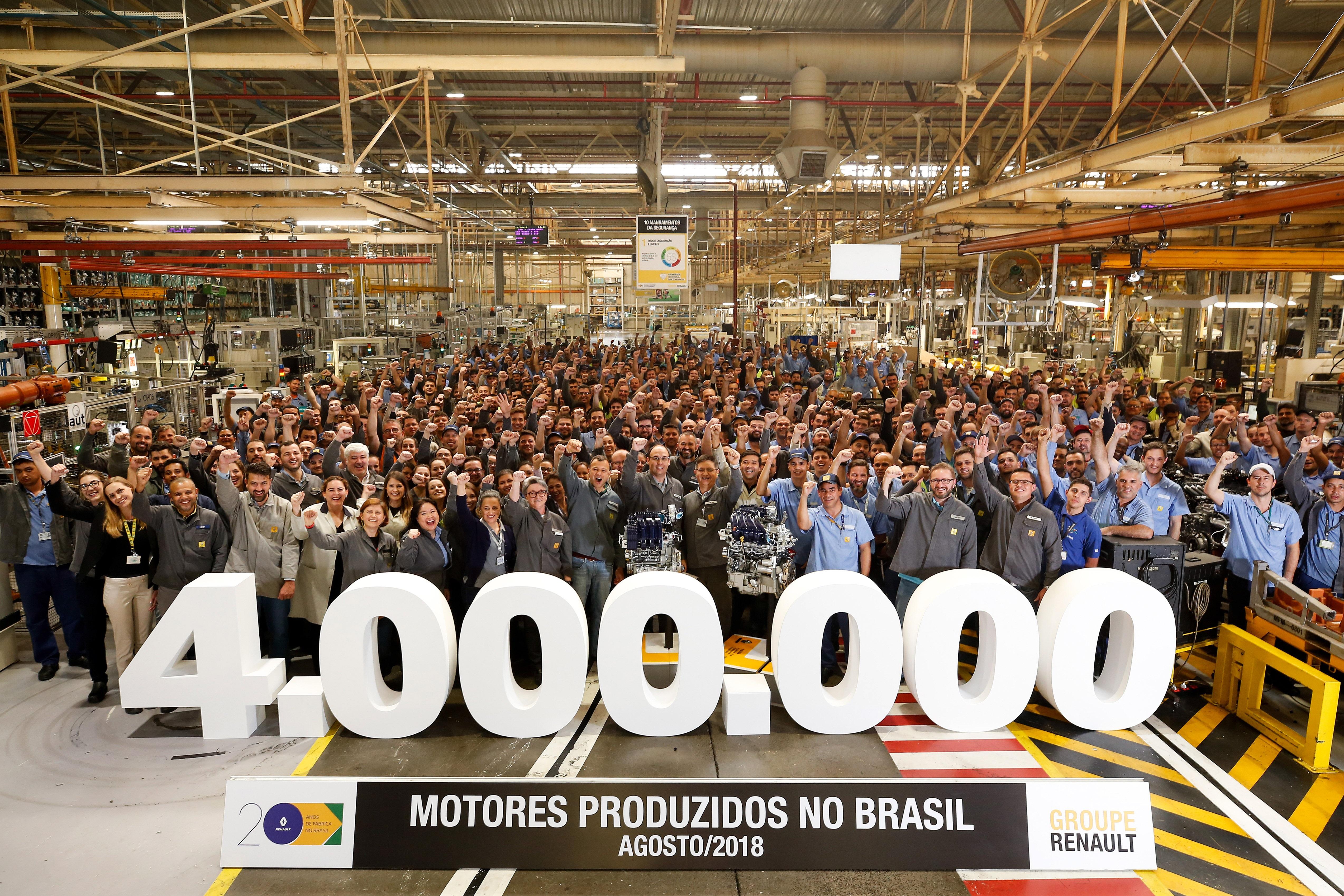 Renault alcança a marca de 4 milhões de motores produzidos no Brasil