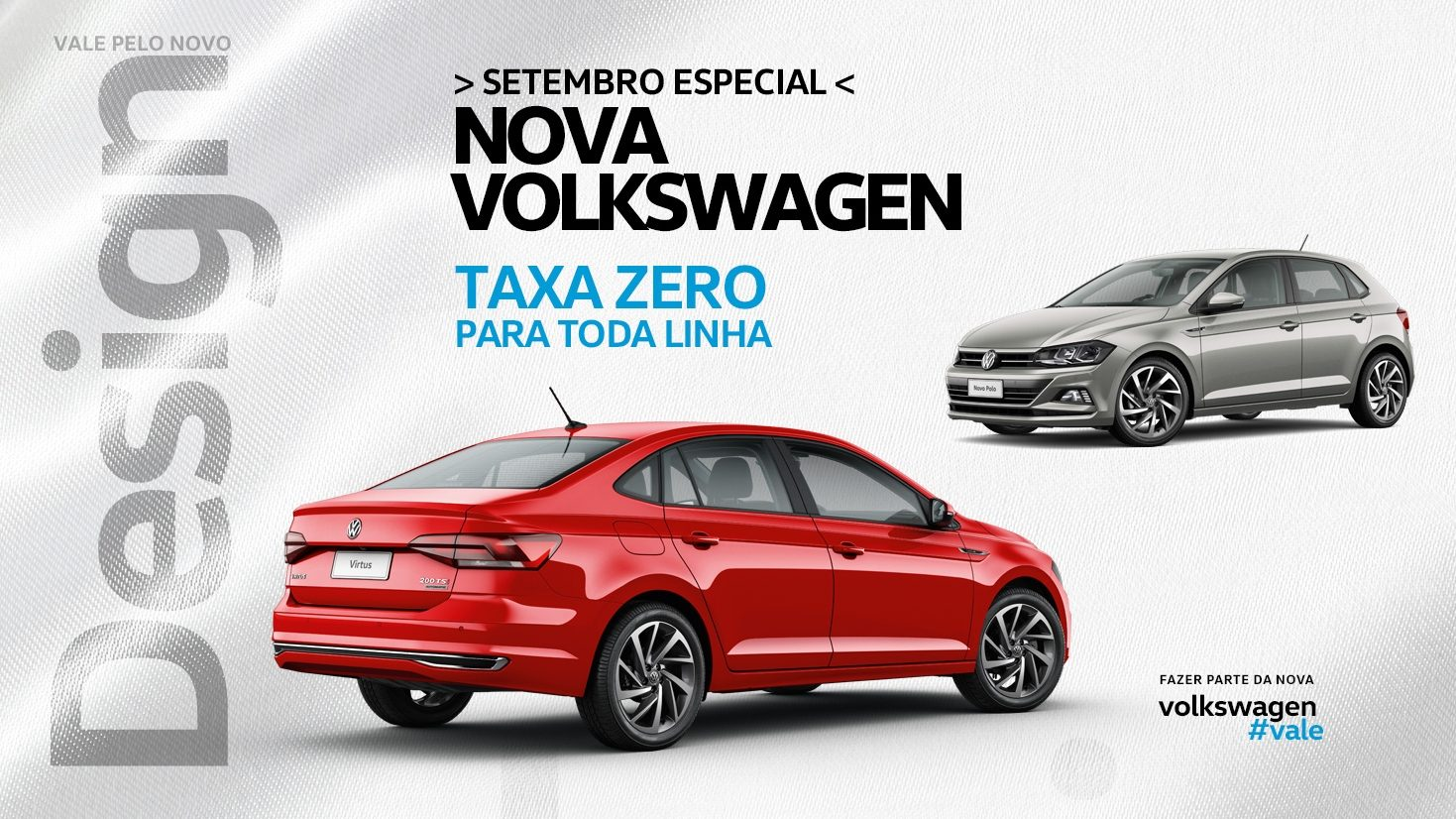 Setembro é mês especial na Alemanha Veículos: toda a linha Volkswagen com taxa zero!