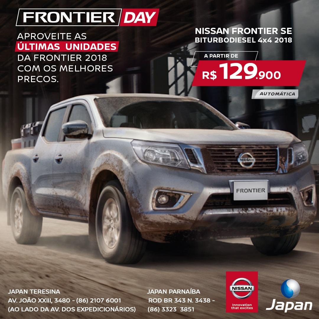 Aproveite o Frontier Day neste sábado: últimas unidades da linha 2018 em condições que não dá para perder!